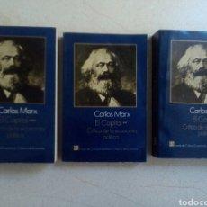Libros de segunda mano: CARLOS MARX: EL CAPITAL. CRITICA DE LA ECONOMIA POLITICA. TRES TOMOS. COMPLETA. Lote 183074040