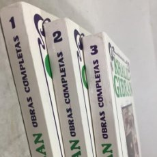 Libros de segunda mano: KHALIL GIBRAN OBRAS COMPLETAS TRES VOLUMENES, 1988 EDICOMUNICACION. Lote 183550690
