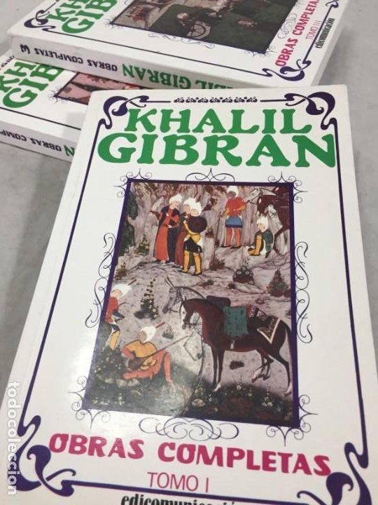 Libros de segunda mano: Khalil Gibran OBRAS COMPLETAS TRES VOLUMENES, 1988 EDICOMUNICACION - Foto 2 - 183550690