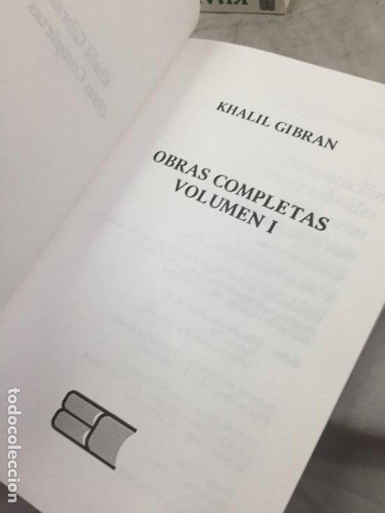 Libros de segunda mano: Khalil Gibran OBRAS COMPLETAS TRES VOLUMENES, 1988 EDICOMUNICACION - Foto 3 - 183550690