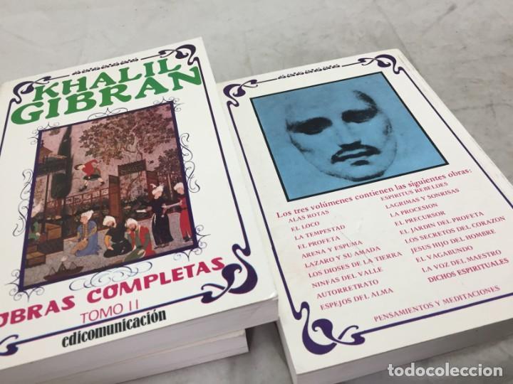 Libros de segunda mano: Khalil Gibran OBRAS COMPLETAS TRES VOLUMENES, 1988 EDICOMUNICACION - Foto 16 - 183550690