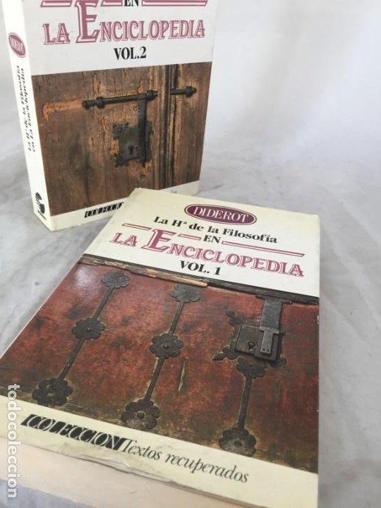 Libros de segunda mano: LA HISTORIA DE LA FILOSOFÍA EN LA ENCICLOPEDIA. DIDEROT. EDICIÓN PREPARADA POR JOSÉ MANUEL BERMUDO - Foto 15 - 205087971
