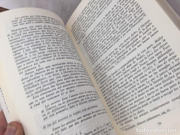 Libros de segunda mano: LA HISTORIA DE LA FILOSOFÍA EN LA ENCICLOPEDIA. DIDEROT. EDICIÓN PREPARADA POR JOSÉ MANUEL BERMUDO - Foto 4 - 205087971