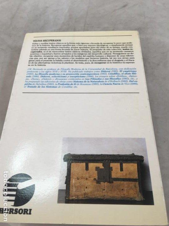 Libros de segunda mano: LA HISTORIA DE LA FILOSOFÍA EN LA ENCICLOPEDIA. DIDEROT. EDICIÓN PREPARADA POR JOSÉ MANUEL BERMUDO - Foto 14 - 205087971