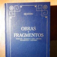 Libros de segunda mano: LIBRO - HESIODO - OBRAS Y FRAGMENTOS - GREDOS 2000 - . Lote 183849197