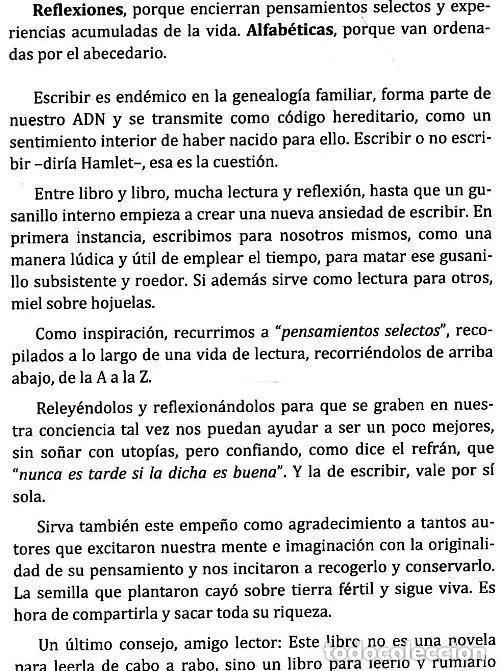 Libros de segunda mano: REFLEXIONES ALFABETICAS. COGITO ERGO SUM. JOSE CARLOS ESPINOSA ( VIGO ). NUEVO. - Foto 2 - 183859407