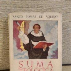 Libros de segunda mano: SUMA TEOLOGICA SANTO TOMAS DE AQUINO TRATADO DE LA VIDA DE CRISTO TOMO XII . Lote 184268380