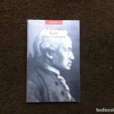 Libros de segunda mano: JAMES NOXON. S. KORNER. KANT. ED. ALIANZA, 1987. Lote 184385697