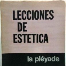 Libros de segunda mano: G. W. F. HEGEL - LECCIONES DE ESTÉTICA. LA PLÉYADE, 1977.. Lote 184618940