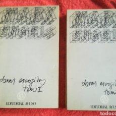 Libros de segunda mano: CARLOS MARX FEDERICO ENGELS OBRAS ESCOGIDAS DOS TOMOS 1975. Lote 184623413