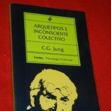 Livros em segunda mão: ARQUETIPOS E INCONSCIENTE COLECTIVO, DE CARL G. JUNG - PAIDOS 1997. Lote 211634766