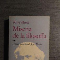 Libros de segunda mano: MISERIA DE LA FILOSOFÍA KARL MARX. EDITORIAL EDAF. . Lote 186234008