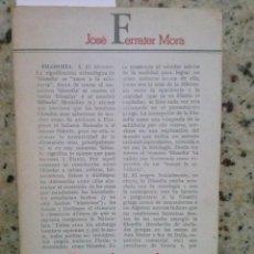 Libros de segunda mano: DICCIONARIO DE FILOSOFIA ABREVIADO. JOSE FERRATER MORA. ED. EDHASA, 1981. Lote 186238048