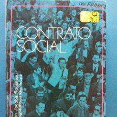 Libros de segunda mano: CONTRATO SOCIAL. JUAN JACOBO ROUSSEAU. EDITORIAL ESPASA CALPE S.A.. Lote 186304521