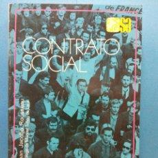 Libros de segunda mano: CONTRATO SOCIAL. JUAN JACOBO ROUSSEAU. EDITORIAL ESPASA CALPE S.A.. Lote 186304643