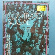 Libros de segunda mano: CONTRATO SOCIAL. JUAN JACOBO ROUSSEAU. EDITORIAL ESPASA CALPE S.A.. Lote 186304741