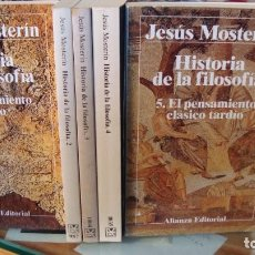 Libros de segunda mano: HISTORIA DE LA FILOSOFIA 5-TOMOS - MOSTERÍN, JESÚS COMPLETA. Lote 187417073