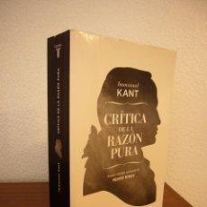 Libros de segunda mano: INMANUEL KANT: CRÍTICA DE LA RAZÓN PURA. NUEVA ED. REVISADA DE PEDRO RIBAS (TAURUS, 2013). Lote 189476966