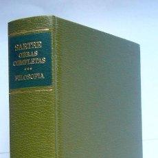 Livres d'occasion: JEAN-PAUL SARTRE. OBRAS COMPLETAS - TOMO III. FILOSOFIA: EL SER Y LA NADA / LA CRITICA DE LA RAZON. Lote 189670670