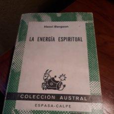 Livros em segunda mão: LA ENERGÍA ESPIRITUAL. HENRI BERGSON. Lote 189736347