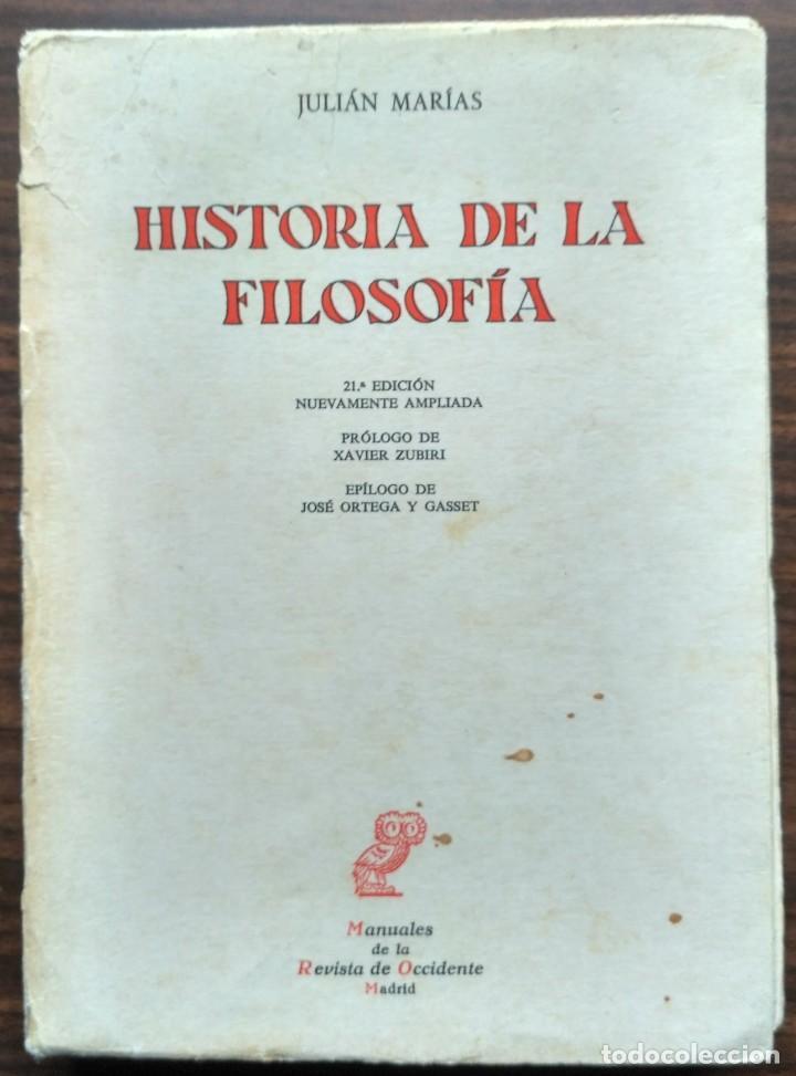 Historia De La Filosofia Julian Marias