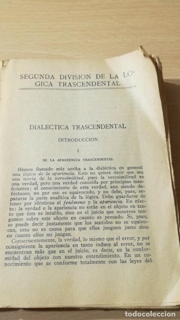 Libros de segunda mano: CRITICA DE LA RAZON PURA- ENMANUEL KANT - PROLEGOMENOS A TODA METAFISICA FUTURA - 1934 BERGUA / J - Foto 6 - 190445730