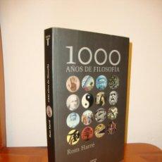 Libros de segunda mano: 1000 AÑOS DE FILOSOFÍA - ROM HARRÉ - TAURUS, MUY BUEN ESTADO. Lote 190634830