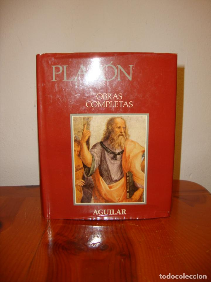 Libros de segunda mano: OBRAS COMPLETAS - PLATÓN - AGUILAR, PAPEL BIBLIA, 1700 PÁGS. - Foto 3 - 190636516