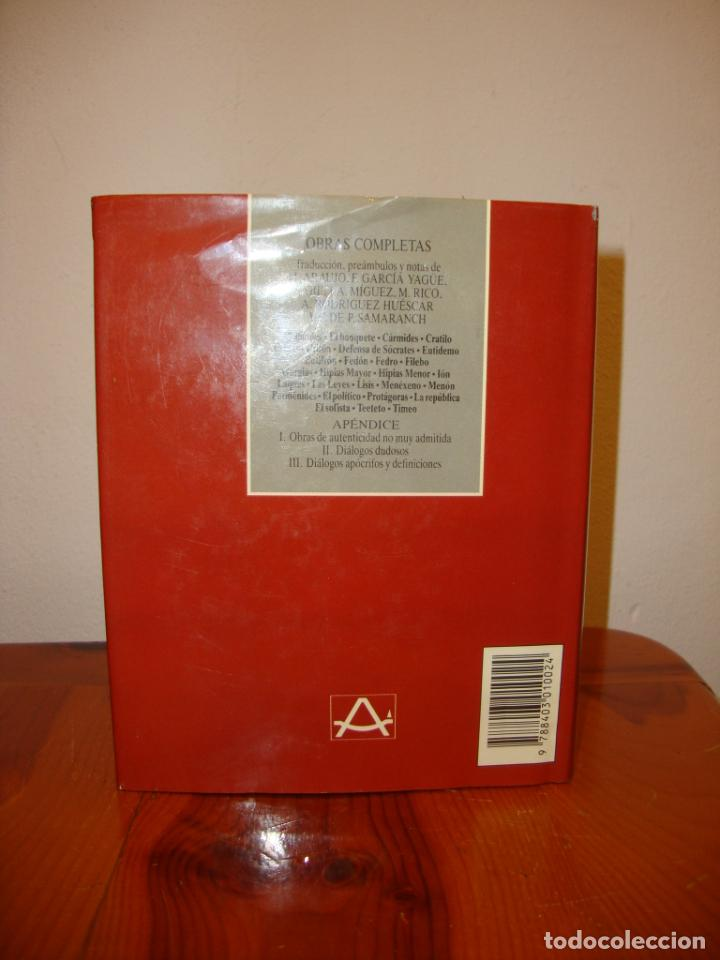 Libros de segunda mano: OBRAS COMPLETAS - PLATÓN - AGUILAR, PAPEL BIBLIA, 1700 PÁGS. - Foto 4 - 190636516