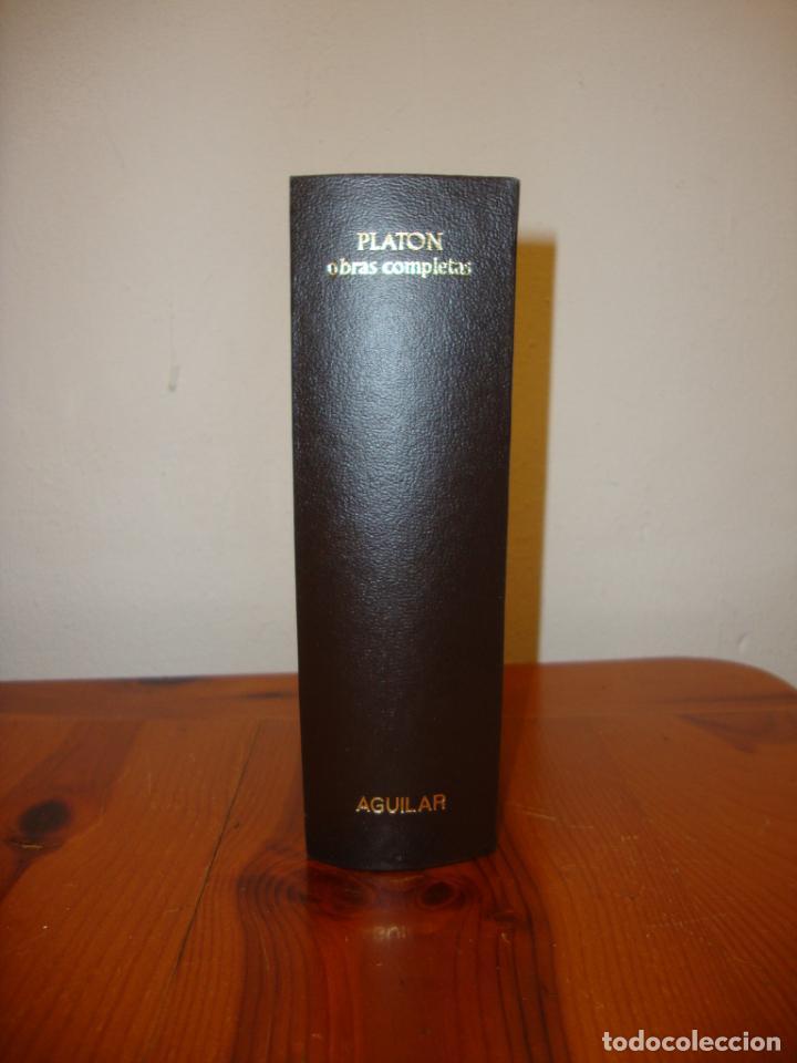 Libros de segunda mano: OBRAS COMPLETAS - PLATÓN - AGUILAR, PAPEL BIBLIA, 1700 PÁGS. - Foto 5 - 190636516