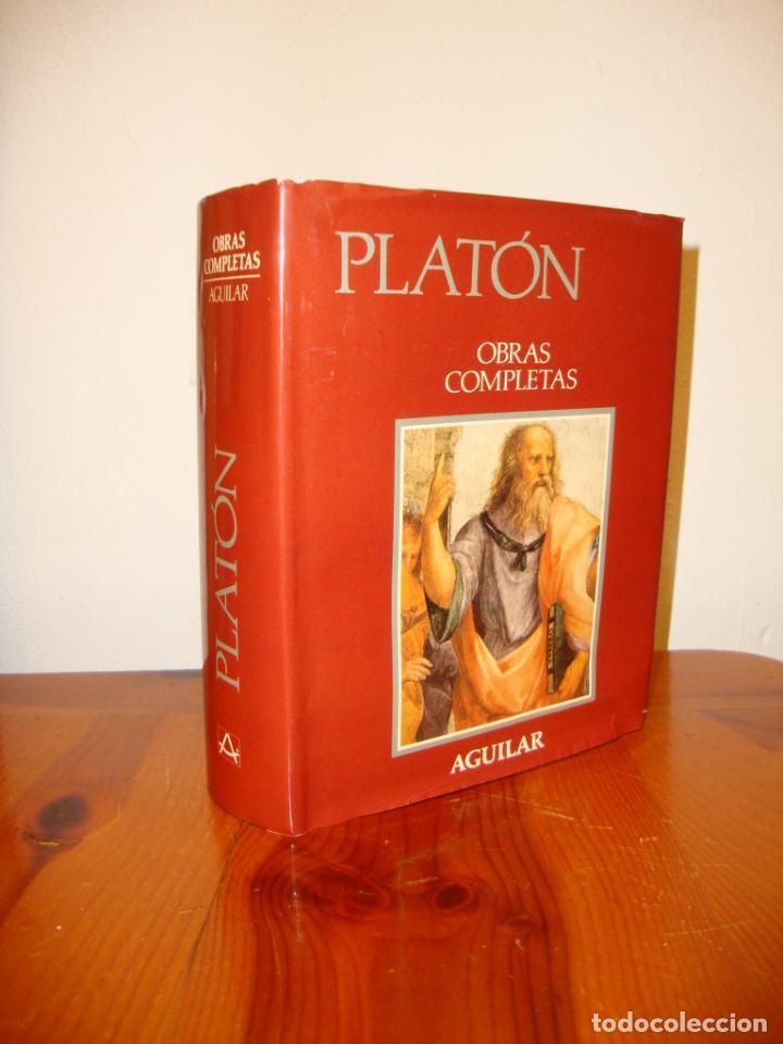 OBRAS COMPLETAS - PLATÓN - AGUILAR, PAPEL BIBLIA, 1700 PÁGS. (Libros de Segunda Mano - Pensamiento - Filosofía)