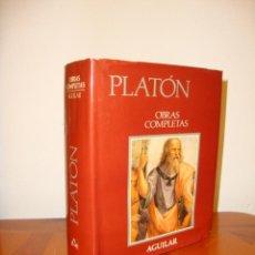 Libros de segunda mano: OBRAS COMPLETAS - PLATÓN - AGUILAR, PAPEL BIBLIA, 1700 PÁGS. . Lote 190636516