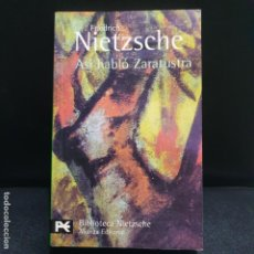 Libros de segunda mano: NIETZSCHE, ASI HABLO ZARATUSTRA, ALIANZA. Lote 190773022