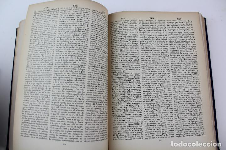 Libros de segunda mano: L-4373. DICCIONARIO DE FILOSOFIA JOSE FERRATER MORA. 2 TOMOS. 1965. - Foto 6 - 190936430