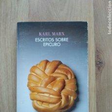 Libros de segunda mano: ESCRITOS SOBRE EPICURO. KARL MARX.. Lote 191151937