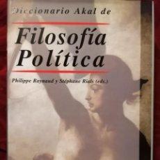 Libros de segunda mano: DICCIONARIO AKAL DE FILOSOFIA POLITICA . Lote 191196545