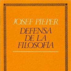 Libros de segunda mano: DEFENSA DE LA FILOSOFÍA. - PIEPER, JOSEF.. Lote 191513906