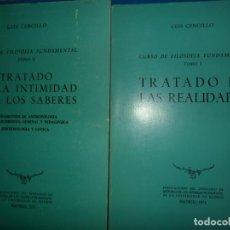 Libros de segunda mano: CURSO DE FILOSOFÍA FUNDAMENTAL, 2 TOMOS, LUIS CENCILLO, MADRID, 1971. Lote 191609375