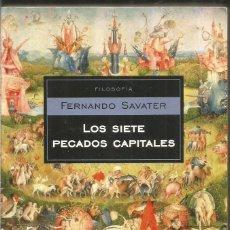 Libros de segunda mano: FERNANDO SAVATER. LOS SIETE PECADOS CAPITALES. DEBOLSILLO. Lote 192165683