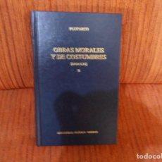 Livres d'occasion: OBRAS MORALES Y DE COSTUMBRES. MORALIA. X. PLUTARCO. ED. GREDOS. Lote 192262893