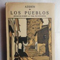 Livres d'occasion: LOS PUEBLOS, POR AZORÍN.. Lote 192380436