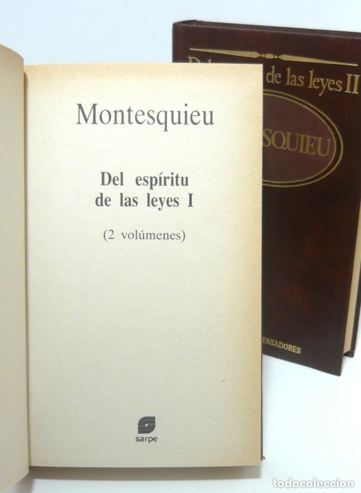 Libros de segunda mano: 1984 - Montesquieu: Del Espíritu de las Leyes - Obra Completa en 2 Tomos - Ilustración Francesa - Foto 3 - 193006207