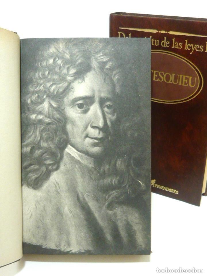 Libros de segunda mano: 1984 - Montesquieu: Del Espíritu de las Leyes - Obra Completa en 2 Tomos - Ilustración Francesa - Foto 4 - 193006207