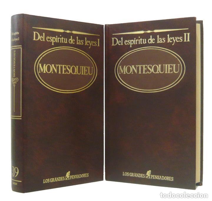 1984 - MONTESQUIEU: DEL ESPÍRITU DE LAS LEYES - OBRA COMPLETA EN 2 TOMOS - ILUSTRACIÓN FRANCESA (Libros de Segunda Mano - Pensamiento - Filosofía)