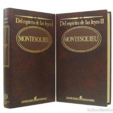 Libros de segunda mano: 1984 - MONTESQUIEU: DEL ESPÍRITU DE LAS LEYES - OBRA COMPLETA EN 2 TOMOS - ILUSTRACIÓN FRANCESA. Lote 211465837