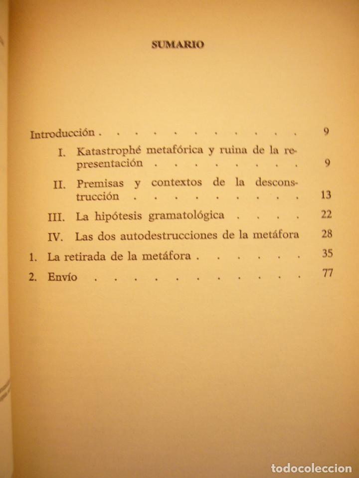 Libros de segunda mano: JACQUES DERRIDA: LA DESCONSTRUCCIÓN EN LAS FRONTERAS DE LA FILOSOFÍA (PAIDÓS, 1989) MUY RARO - Foto 5 - 193423646