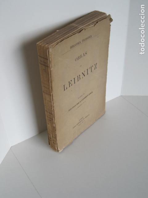 BIBLIOTECA FILOSÓFICA. OBRAS DE LEIBNITZ. TOMO II. NUEVO ENSAYO SOBRE EL ENTENDIMIENTO HUMANO. (Libros de Segunda Mano - Pensamiento - Filosofía)