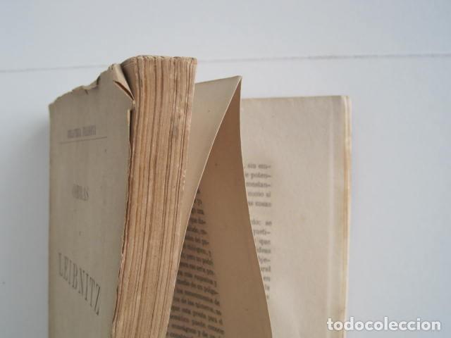 Libros de segunda mano: BIBLIOTECA FILOSÓFICA. OBRAS DE LEIBNITZ. TOMO II. NUEVO ENSAYO SOBRE EL ENTENDIMIENTO HUMANO. - Foto 7 - 193889871