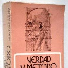 Libros de segunda mano: VERDAD Y MÉTODO POR HANS GEORG GADAMER DE ED. SÍGUEME EN SALAMANCA 1988 3ª EDICIÓN. Lote 193984798