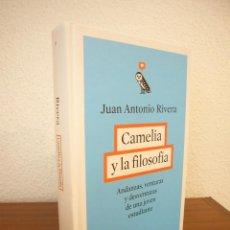 Libros de segunda mano: JUAN ANTONIO RIVERA: CAMELIA Y LA FILOSOFÍA (ARPA, 2016) MUY BUEN ESTADO. TAPA DURA.. Lote 194136100